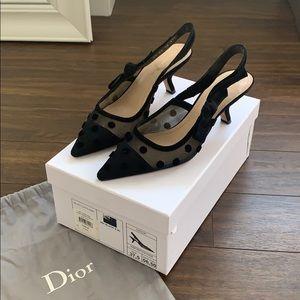 Dior J'Adior Kitten Heel Slingbacks